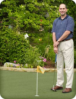 Join the dealership network of Putters Edge Dealers. Pictured: Bob Pireu, neogreens.com - NorthEast Ohio Putting Greens
