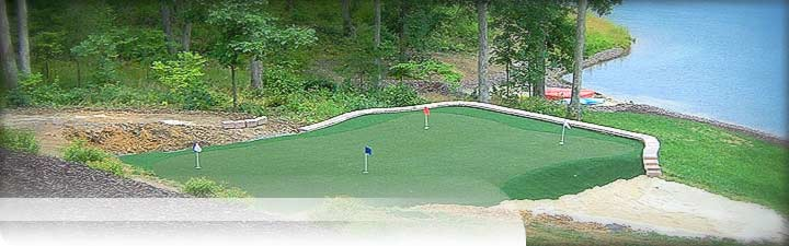 Putters Edge Custom Putting Greens: Golf Turf - West Virginia putting green installation