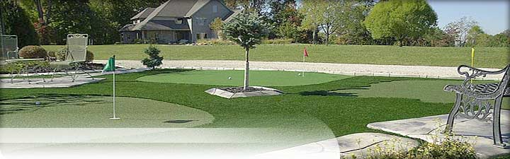 Putters Edge Custom Putting Greens: golfing and sporting turf products