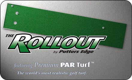 The Rollout Green by Putters Edge™ portable putting greens